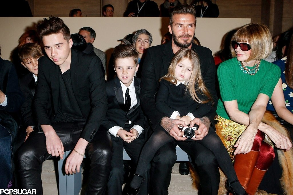Beckham family at NYFW.