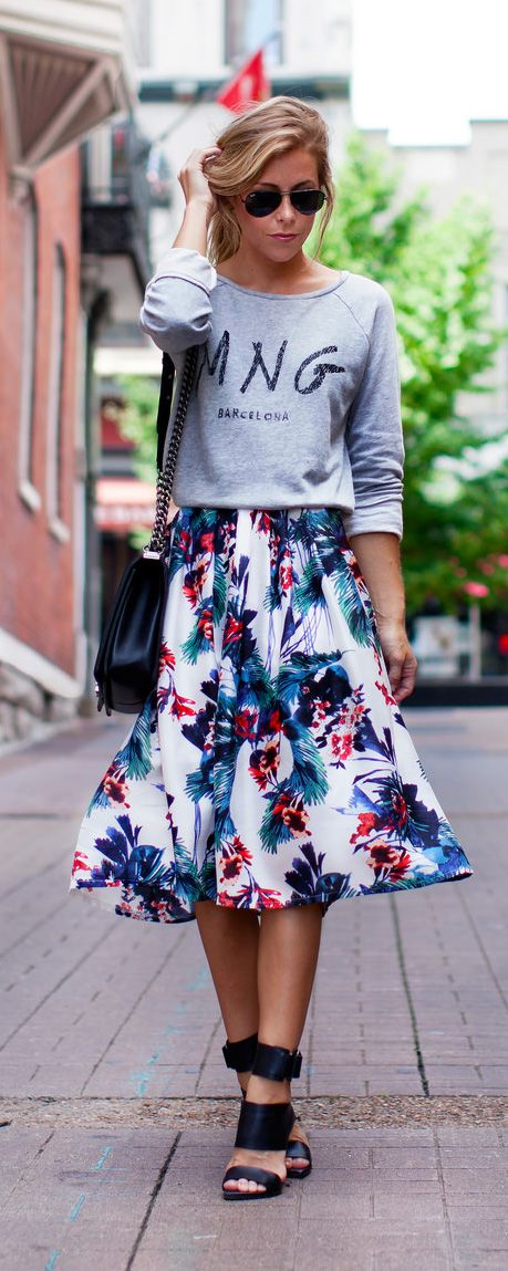 Spring Style: How to Style a Midi Skirt - Glamorous Paper