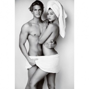 Gigi-Hadid-and-Cody-Simpson-Towel-Series