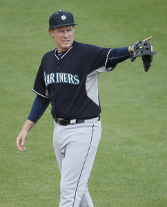 Farrell during the first game of the day with the Mariners.