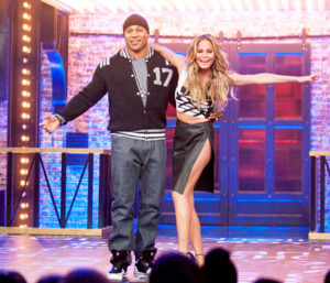"Host of the show ""Lyp Sync Battle"" LL Cool J and Chrissy Teigen"