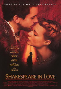 Shakespeare in Love has a 92% on Rotten Tomatoes.