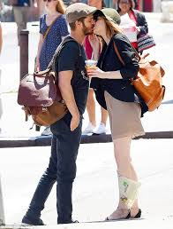 Emma Stone and Andrew Garfield engaging in PDA before their 'break'.