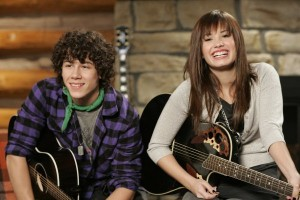 Demi and Nick during Camp Rock