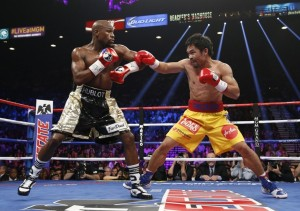 Mayweather and Pacquiao fight Saturday night.