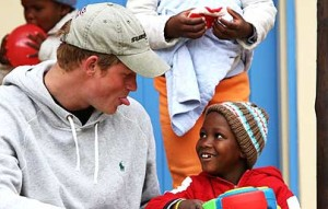Prince Harry seems to be a natural with children.