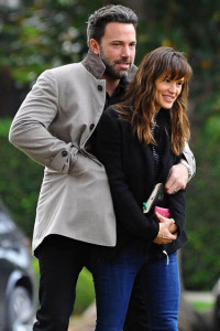 Ben Affleck and Jennifer Garner just a few weeks ago, appearing happier.