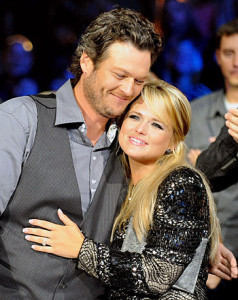 Miranda Lambert and Blake Shelton during happier times. The couple announced their divorce on July 20.