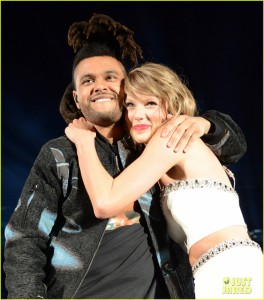 The Weeknd was a guest performer on Taylor Swift's 1989 tour