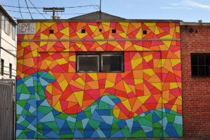 Geometric Mural on Abbot Kinney